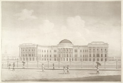 South view of the New Government House,Calcutta